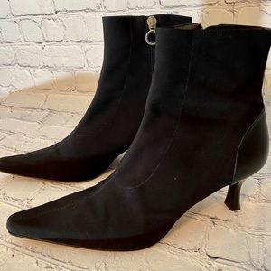 Donald J Pliner suede pointed toe Ankle bootie